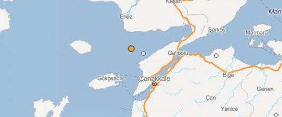 Bir deprem de Ege Deniz'inde