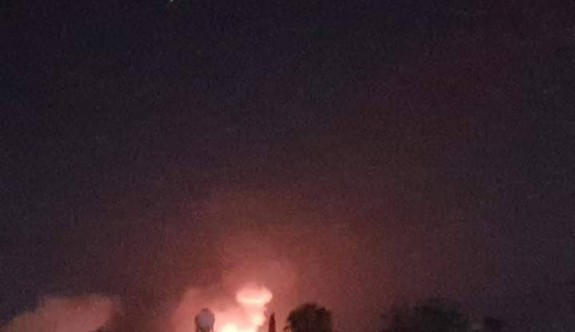 Çatalköy yakınındaki askeri bölükte cephanelik yangını