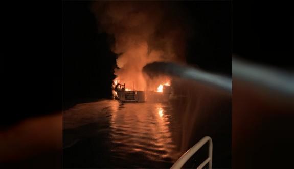 Gemide yangın faciası: 34 ölü