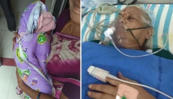 Hindistanlı kadın 73 yaşında ikiz doğurdu