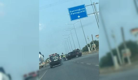 Korkuteli Kavşağı'nda korkutan kaza