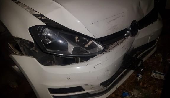 Alkollü sürücü, ters şeride girdi kaza yaptı