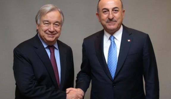 Çavuşoğl, BM Genel Sekreteriyle görüştü
