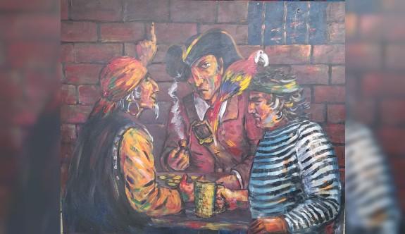 Kazak sanatçıların 141 eseri YDÜ'de sergilenecek