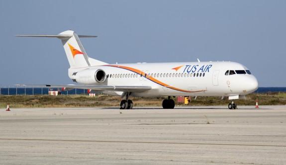 """""""Tus Air"""" Güney Kıbrıs'a uçuşlarına ara veriyor"""