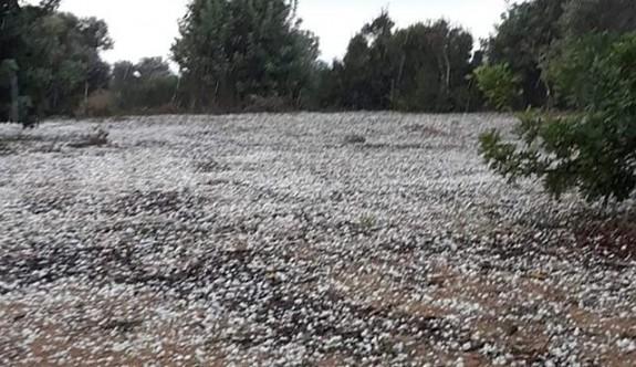 Yeni Erenköy'de dolu yağışı etkili oldu