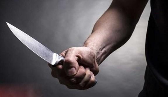 Çatalköy'de bıçakla ağır yaralama