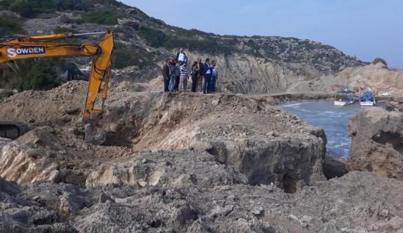 Kayalar Balıkçı Barınağı'nda tadilat başladı