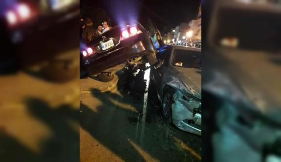 Mağusa'da korkutan kaza ucuz atlatıldı