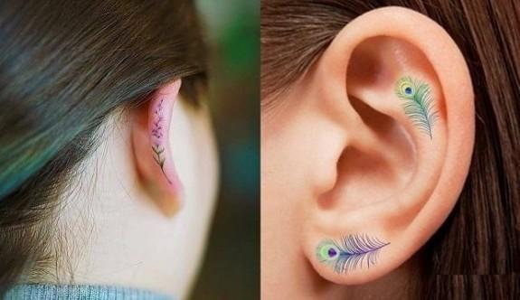 Yeni trend minimal ve zarif kulak dövmeleri