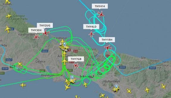İstanbul Havalimanı'na uçaklar inemiyor