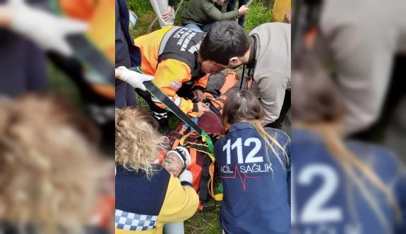 22 Metrelik kuyuya düşen haritacı kurtarıldı