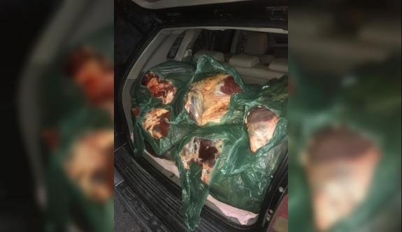 500 kg kaçak et ele  geçirildi