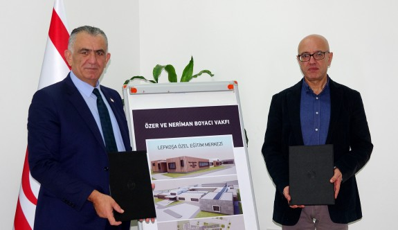 Boyacı Vakfı'ndan, Lefkoşa'ya özel eğitim merkezi