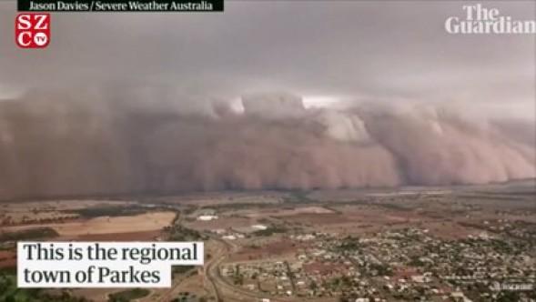Dev toz fırtınası bölgeyi yuttu