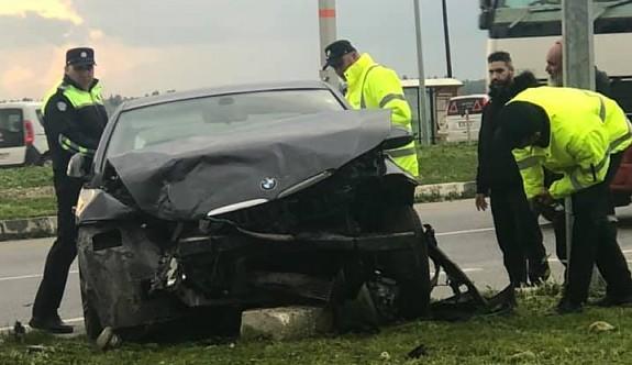İnönü Kavşağı'nda büyük kaza