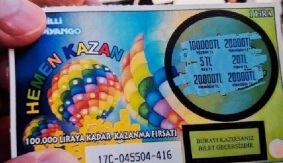 Kazı Kazan oyununda 100 bin TL ikramiyesi sahibini buldu
