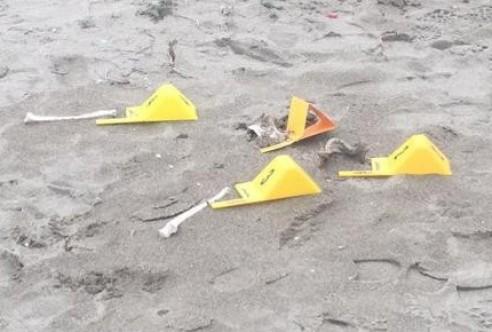 Larnaka sahilinde insan kemikleri bulundu