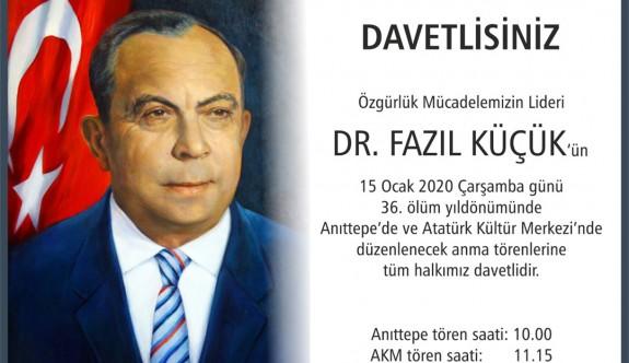 Liderimiz 36. ölüm yıl dönümünde törenlerle anılacak.