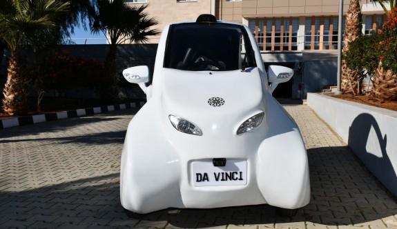 DAÜ'nün tamamen elektrikli aracı 'Da Vinci' görücüye çıktı