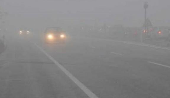 Değirmenlik dağyolu ile St Hilarion kavşağı ile Ciklos mevki yoğun sise dikkat