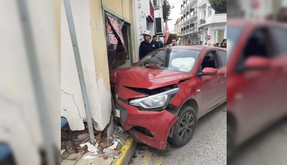 Girne'de yürekleri ağza getiren kaza