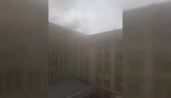 Hastanedeki yangında bir kişi hayatını kaybetti