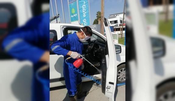 Alpet'te tüm araçlar ücretsiz dezenfekte ediliyor