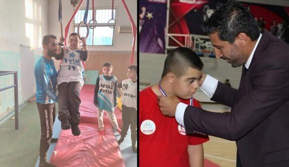 Down Sendromlu çocuklar cimnastikle mutlu