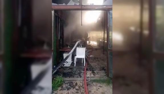 İnciraltı Restaurant'ı kül oldu