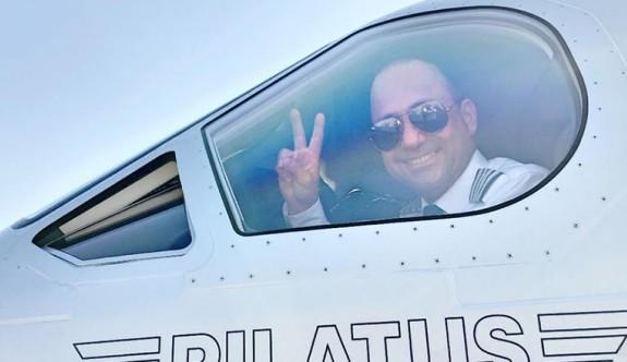 Kitler Özmerter'in özel uçağıyla geldi