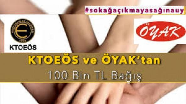 KTOEÖS ve ÖYAK COVİD-19 mücadelesi içim 100 Bin TL bağışladı