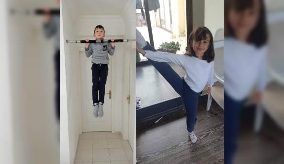 Sapsızoğlu: Evde cimnastik yapan çocukları kutlarım