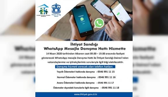 İhtiyat Sandığı whatsapp danışma hattı hizmette