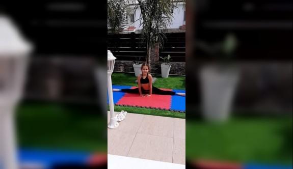 Lefkoşa cimnastikçileri antrenmanlarını aksatmıyorlar