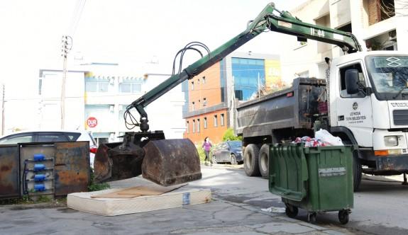 Lefkoşa'nın her sokağı temizleniyor