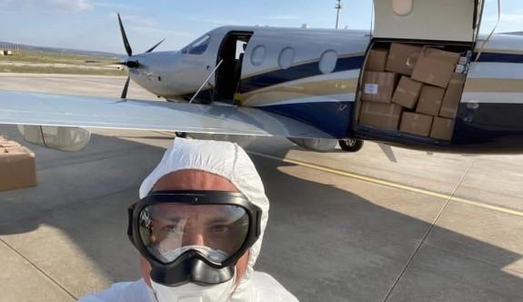 Mete Özmerter, tıbbi malzemeler için yine uçtu