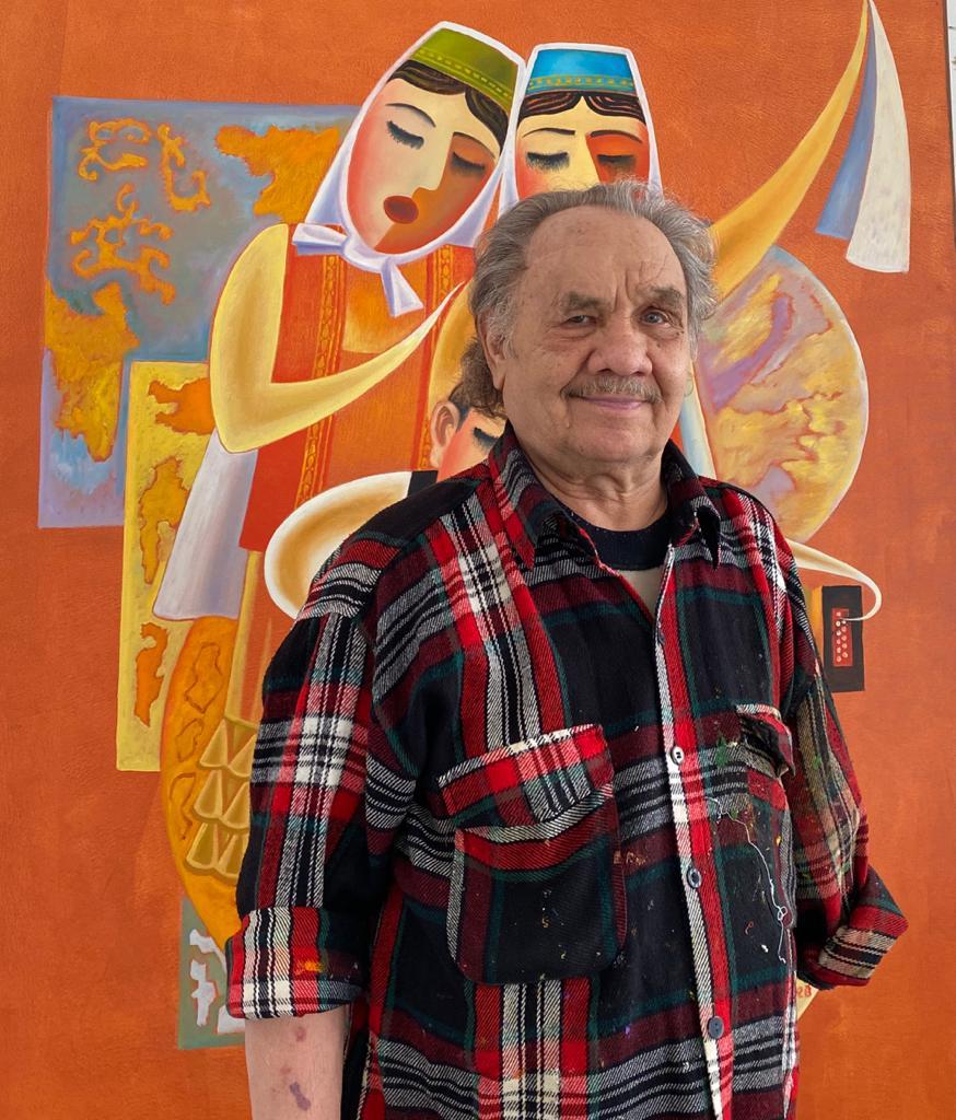 Sanatçı Asgat Dinikeyev duygularını tuvale yansıttı