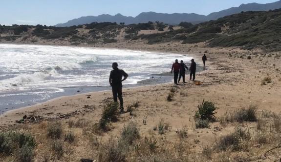 Alagadi'de dün denizde kaybolan genci arama çalışmaları sürüyor