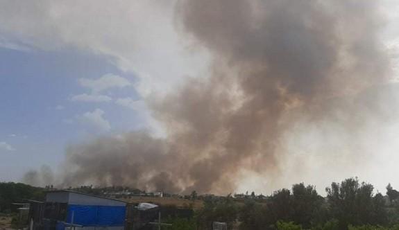 Ara bölgede büyük yangın