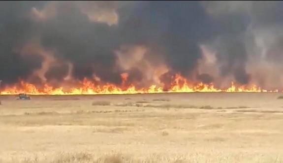Ara bölgedeki yangın eski Lefkoşa havaalanına kadar dayandı