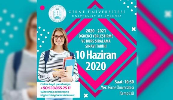 """Girne Üniversitesi, Burs Sıralama Sınavı"""" 10 Haziran'a ertlendi"""