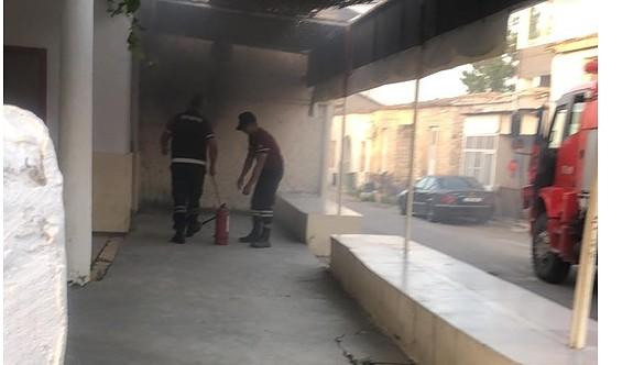 Haspolat Spor Kulübü binası yanmaktan son anda kurtuldu