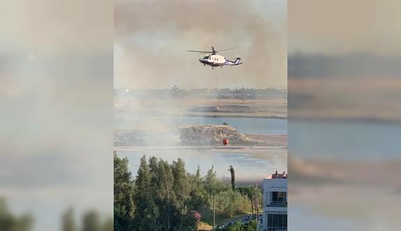 Larnaka'da yangın korkuttu