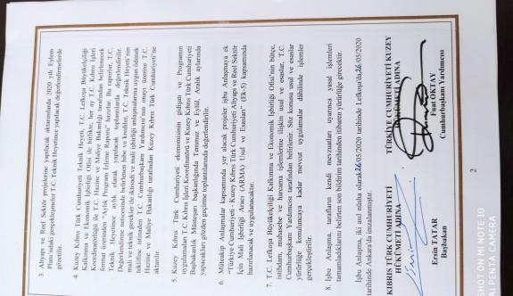 Protokolle KKTC bazı yükümlülükleri yerine getirecek