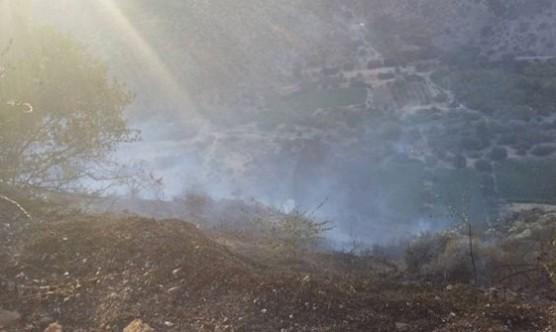 Alevkayası bölgesinde korkutan yangın
