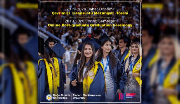 DAÜ Bahar Dönemi Lisansüstü mezuniyet töreni çevrimiçi olarak yapıldı