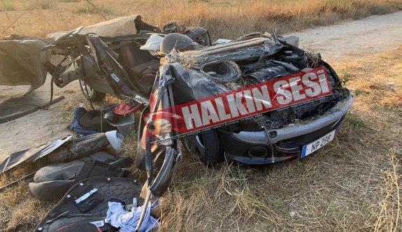 Gazimağusa-Karpaz yolunda feci kaza