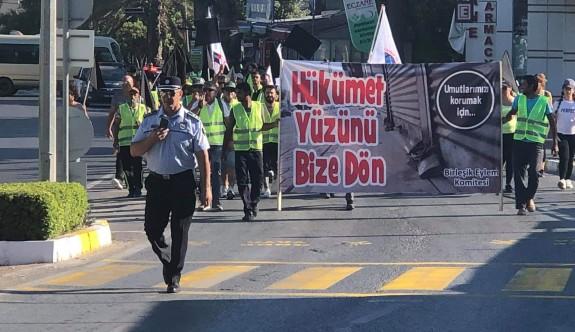 Girne'den Lefkoşaya yürüyüş başladı