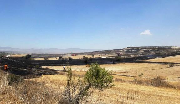 Kırıkkale bölgesinde yangın çıktı